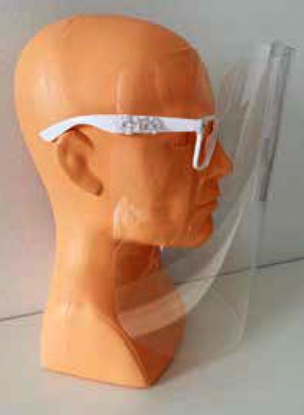 Schutz-Visir mit Brille
