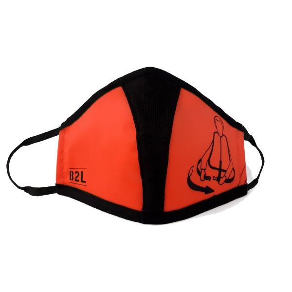 Mund- und Nasenschutz Maske rot/orange