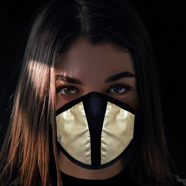 Mund- und Nasenschutz Maske gold