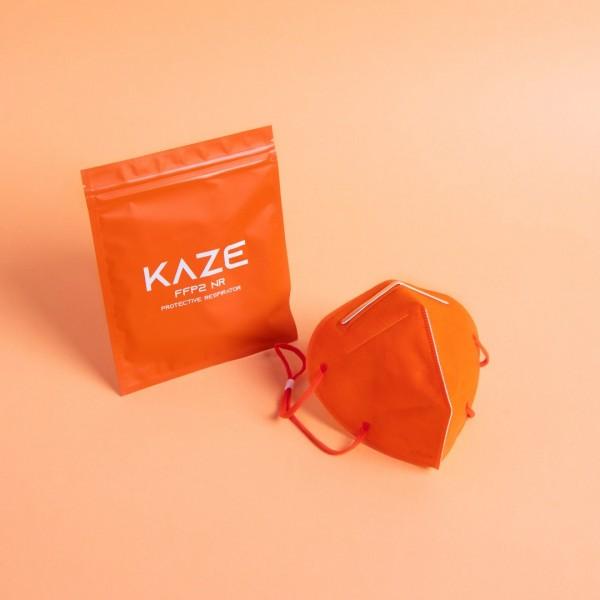 10 Stück Atemschutzmaske Typ FFP2 NR Citrus orange/Zitrusorange