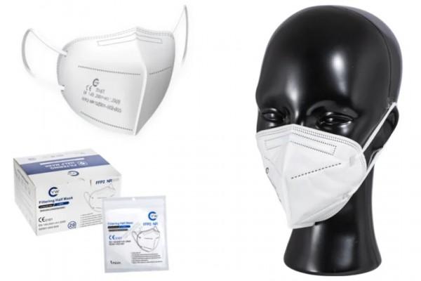 20 Stück Atemschutzmaske Typ FFP2 / DIN EN 149:2001 geprüft mit Ohrschlaufen