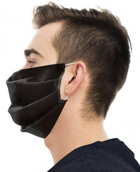 Textil Mund- und Nasenschutz schwarz