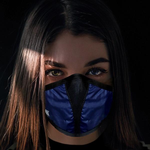 Mund- und Nasenschutz Maske dunkelblau