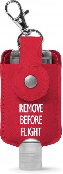 Desinfektionsmittel-Flaschenhalter Remove Before Flight 50ml