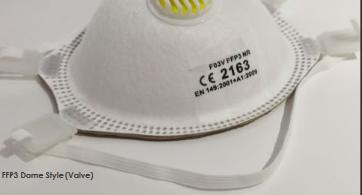 10 Stück Atemschutzmaske FFP3 Dome Style (mit Ventil, EN 149)