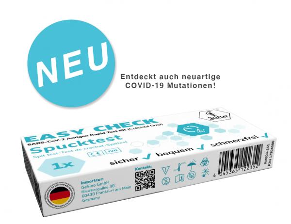RITTER SARSCoV-2 Easy Check COVID-19 Antigen Spucktest (Einzeltest)